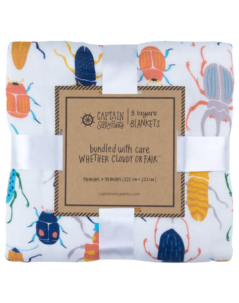 Beetle Bamboo Triple-Layer Blanket