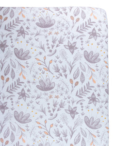 Blushing Blossom Crib Sheet