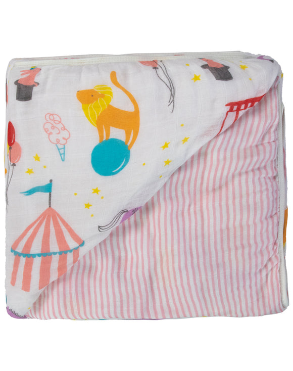 Circus Triple-Layer Bamboo Blanket