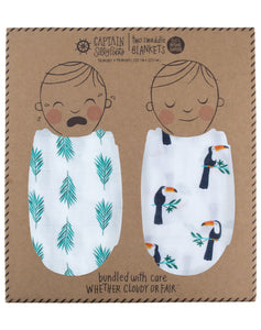 Tropical Rainforest Double Swaddle Set
