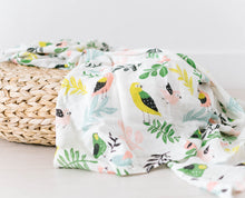 Load image into Gallery viewer, Tropical Bird Single Swaddle