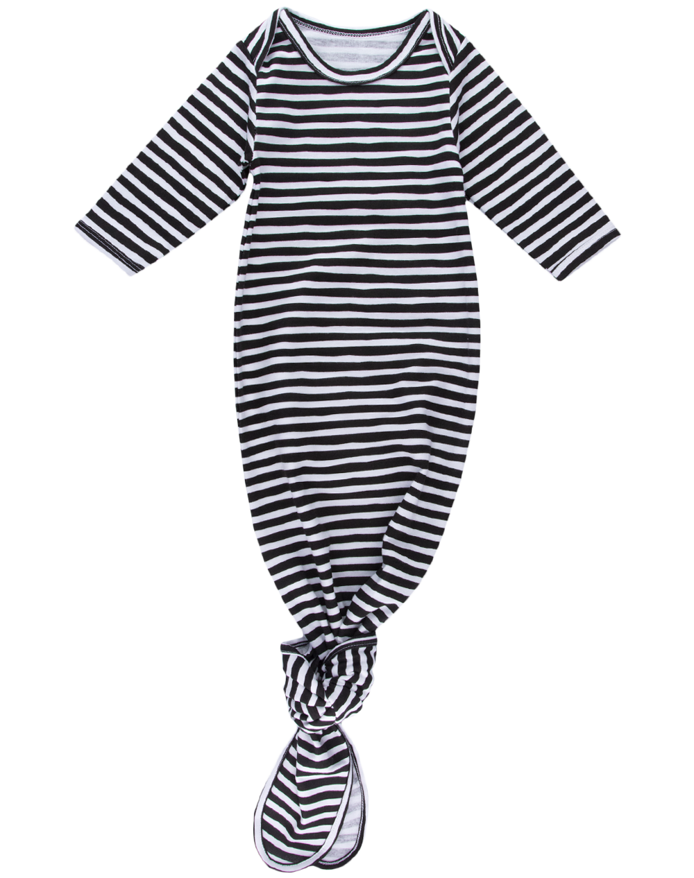 Striped Knotted Gown