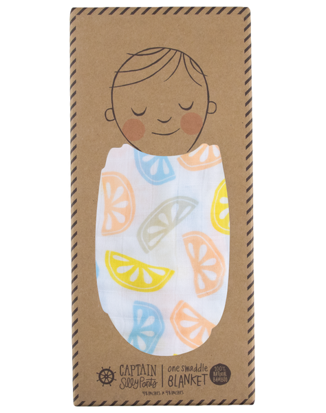 Blue Lemon Single Swaddle