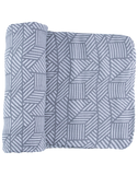 Grey Geometric Cascade Swaddle Set