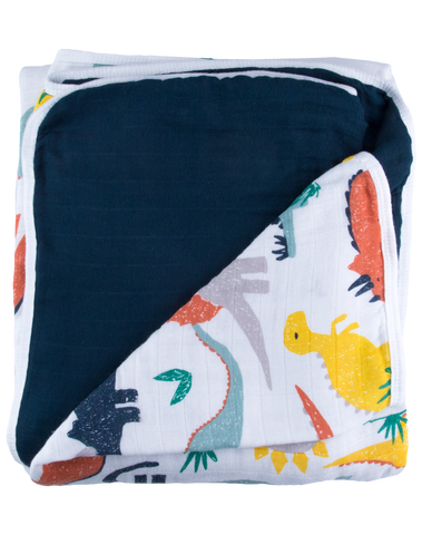 Dinosaur Triple-Layer Bamboo Blanket