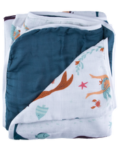 Load image into Gallery viewer, Mermaid Triple-Layer Bamboo Blanket