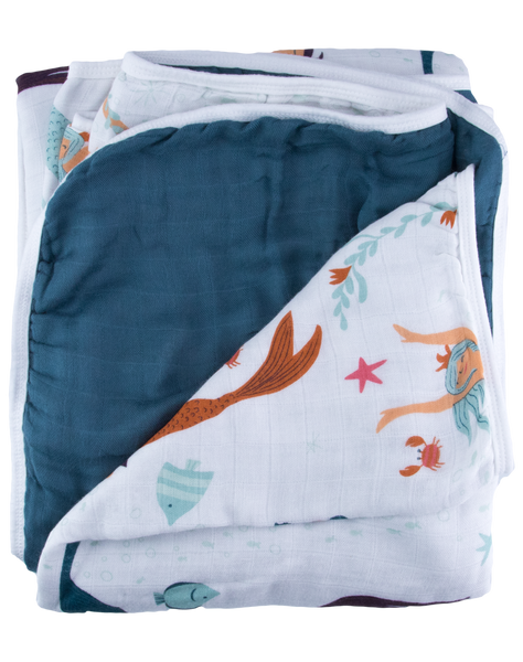 Mermaid Triple-Layer Bamboo Blanket
