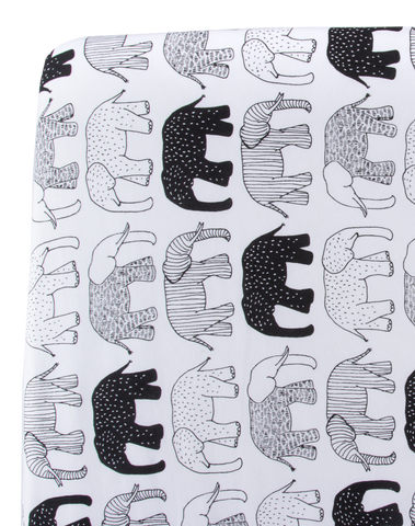 Tusks & Trunks Crib Sheet