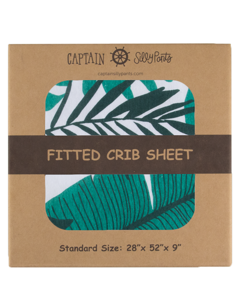 Palm Leaf Crib Sheet
