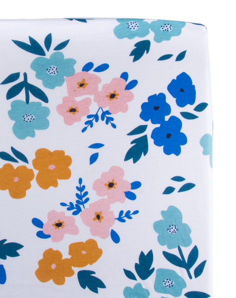 Summer Floral Changing Pad Cover