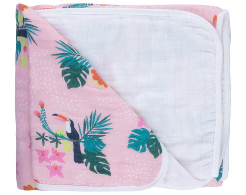 Toucan Bamboo Triple Layer Blanket