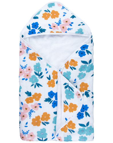 Summer Flower Hooded Towel