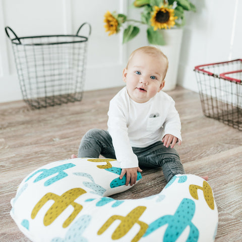 Prickly Pear Organic Cotton Muslin Nursing Pillow Cover