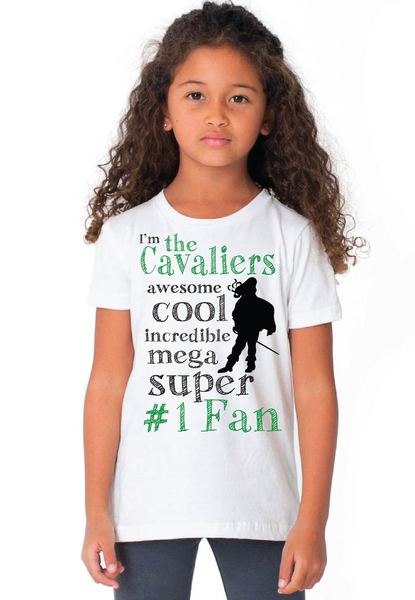 Kids Cavalier Fan T (WHITE)