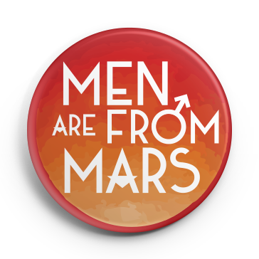 Cavaliers 2017 Men Are From Mars Button