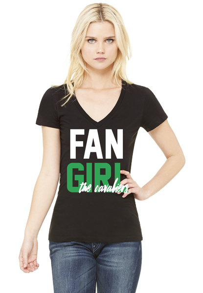 Womens Fan Girl V-neck Short Sleeve