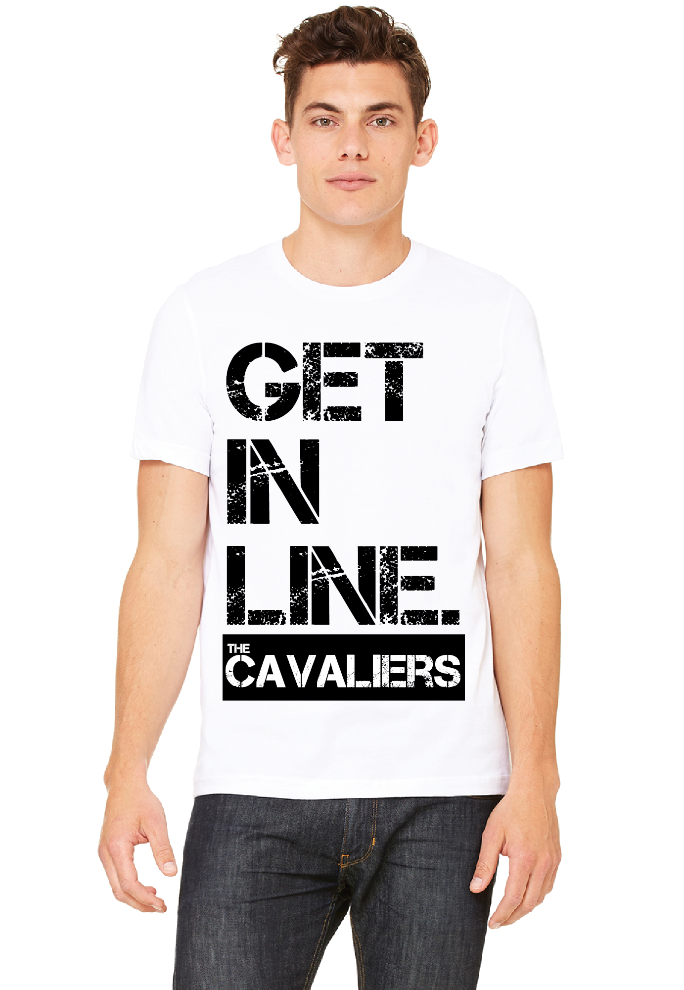 Mens Get In Line Short Sleeve