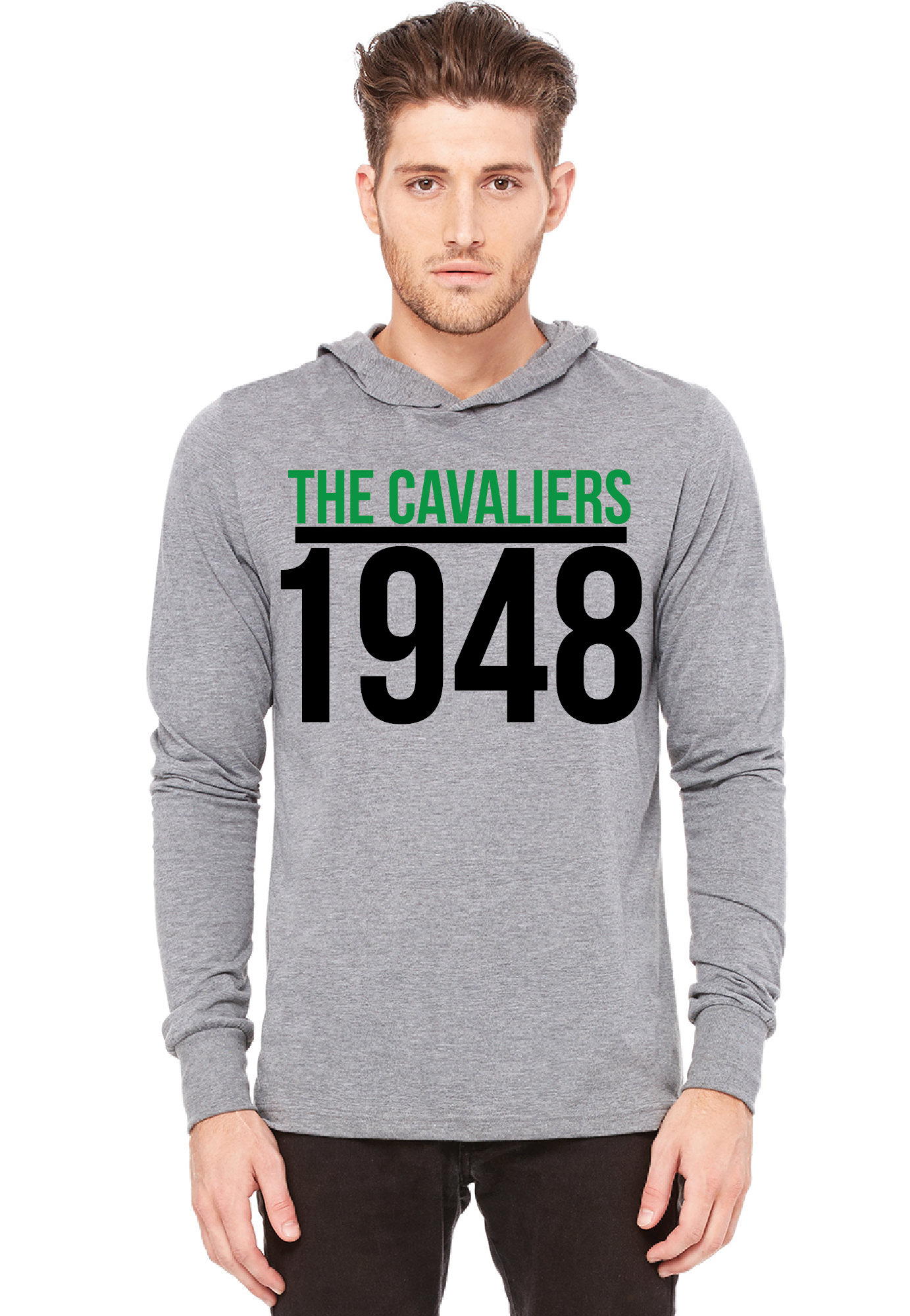 Mens 1948 Hooded T