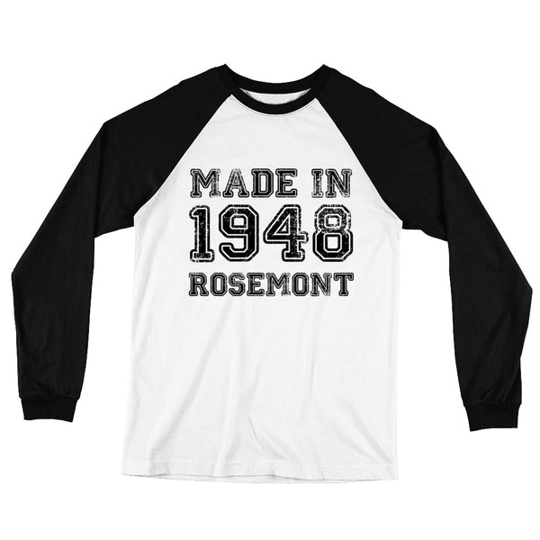 """Made in Rosemont"" Long Sleeve Baseball T (Unisex)"