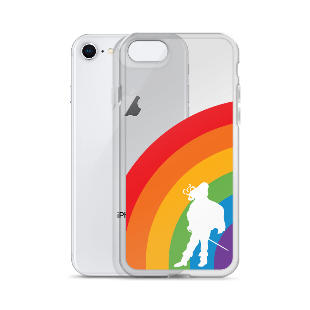 Half Rainbow iPhone Case