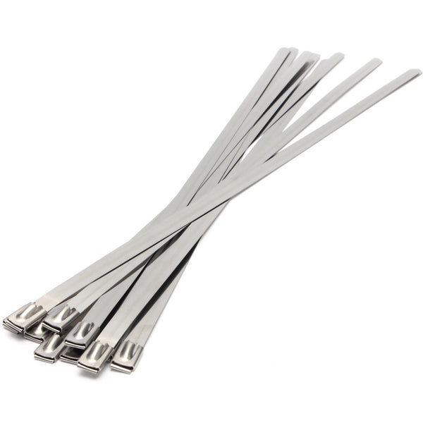 Stainless Steel Cable Ties  - Perfect for Exhaust Wrap