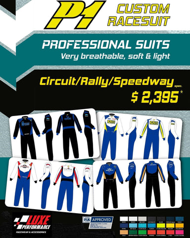 Full Custom - Pro Level - P1 FIA Approved 3 Layer Race Suit