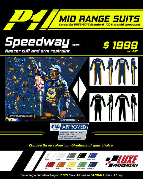 Full Custom - Mid Level - P1 FIA Approved 2 Layer Race Suit