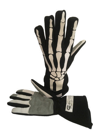 Premium Skeleton SFI 3.3 Race Gloves Fire Resistant NOMEX