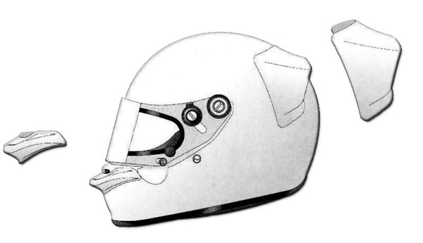 Arai PED Spoiler Kit For GP series Helmets