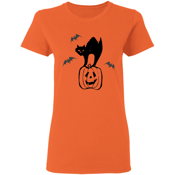 Halloween Cat - Ladies T-Shirt - MeowOutlet.com
