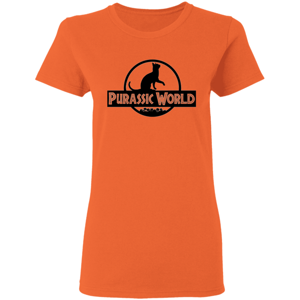 Purassic World - Ladies T-Shirt - MeowOutlet.com