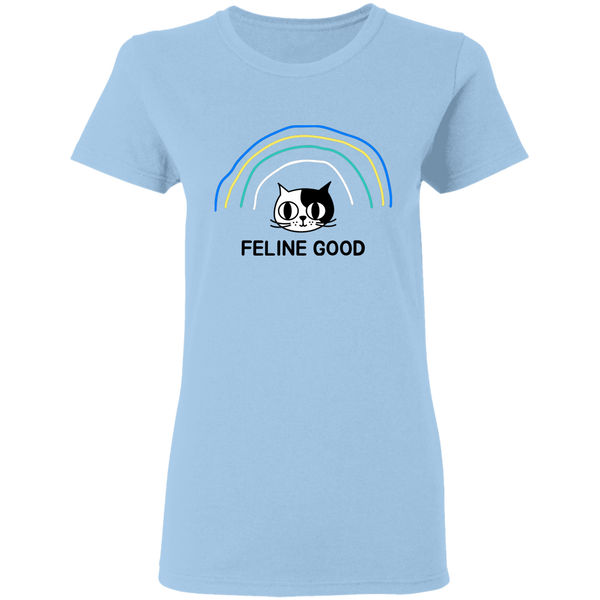 Feline Good - Ladies T-Shirt - MeowOutlet.com