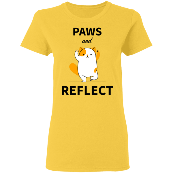 Paws and Reflect - Ladies T-Shirt - MeowOutlet.com