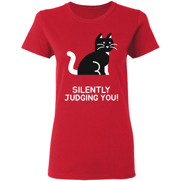 Silently Judging You - Ladies T-Shirt - MeowOutlet.com