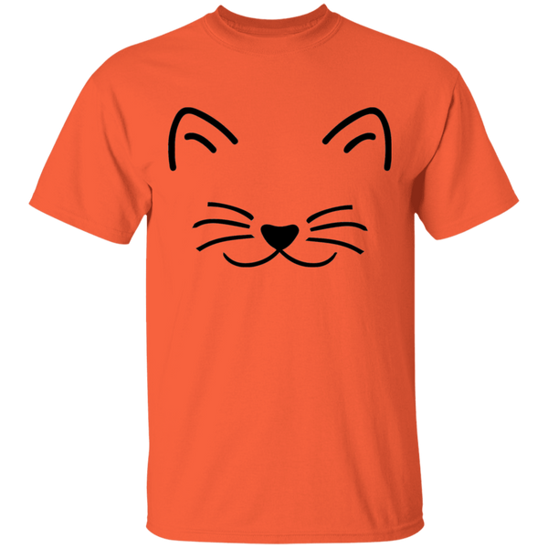 Kitten Face with Heart Nose - Mens T-Shirt - MeowOutlet.com