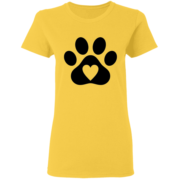 Heart Paw - Ladies T-Shirt - MeowOutlet.com