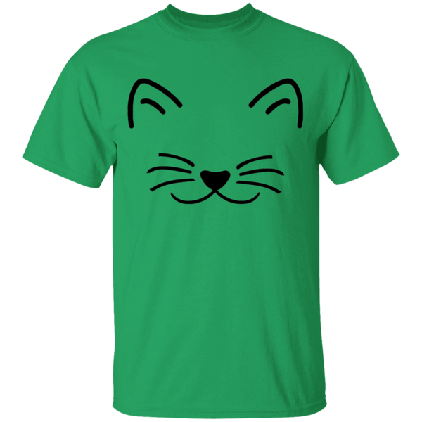Kitten Face with Heart Nose - Youth T-Shirt - MeowOutlet.com