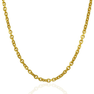 4.0mm 14k Yellow Gold Cable Link Chain