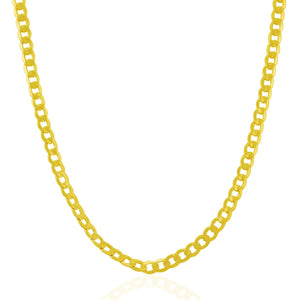4.4mm 14k Yellow Gold Curb Chain