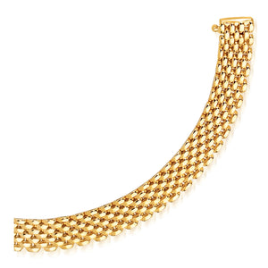 14k Yellow Gold Flexible Panther 9.0mm Line Bracelet
