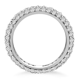 14k White Gold Cupola Round Diamond Eternity Ring in 14k White Gold