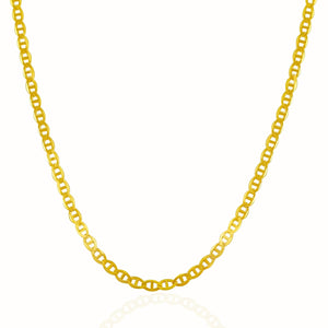 3.2mm 14k Yellow Gold Mariner Link Chain