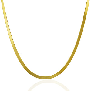 3.0mm 14k Yellow Gold Super Flex Herringbone Chain