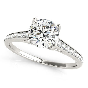 14k White Gold Diamond Engagement Ring With Cathedral Design (1 1/3 cttw)