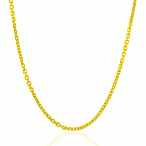 3.1mm 14k Yellow Gold Cable Link Chain