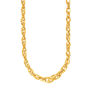 14k Yellow Gold Ornate Prince of Wales Chain Necklace