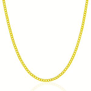 2.4mm 10k Yellow Gold Curb Chain