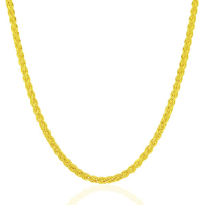 14k Yellow Gold 3.3mm Light Weight Wheat Chain