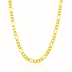5.4mm 10k Yellow Gold Lite Figaro Chain