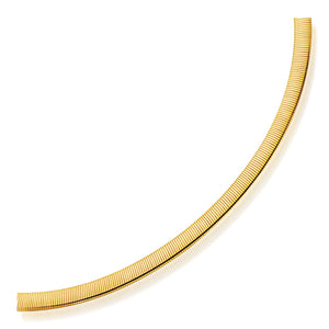 6.0mm 14k Two Tone Gold Reversible Omega Necklace
